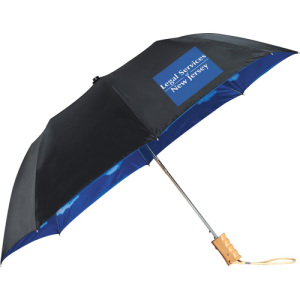46&quot  Blue Skies Auto Open Folding Umbrella