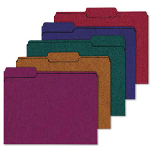 Image of 100% Recycled Color File Folders