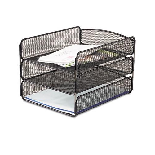 Safco Desk Tray Three Tiers Saf3271bl Shoplet Com