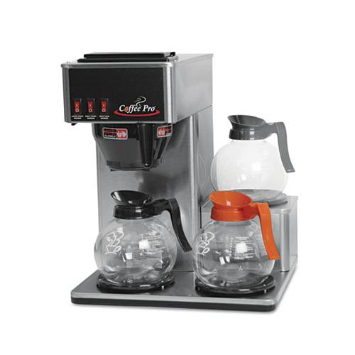 Pro Coffee Maker ~ Coffee pro three burner low profile institutional