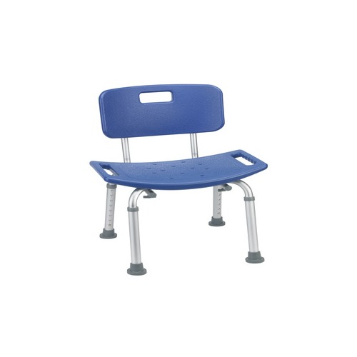 Drive medical bathroom safety shower tub bench chair with back blue 12202kdrb 1 for Drive medical bathroom safety shower tub chair