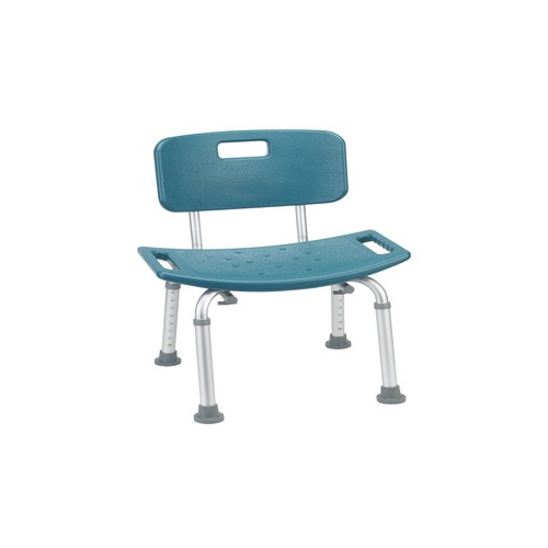 Drive medical bathroom safety shower tub bench chair with back teal 12202kdrt 1 for Drive medical bathroom safety shower tub chair
