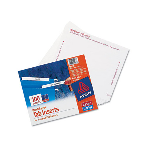 Avery laser inkjet hanging file folder inserts ave11137 for Hanging folder tab template