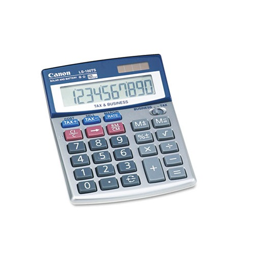 canon ls 100ts calculator instructions