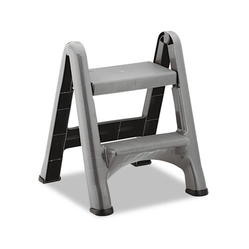 Rubbermaid 2 Step Folding Plastic Step Stool