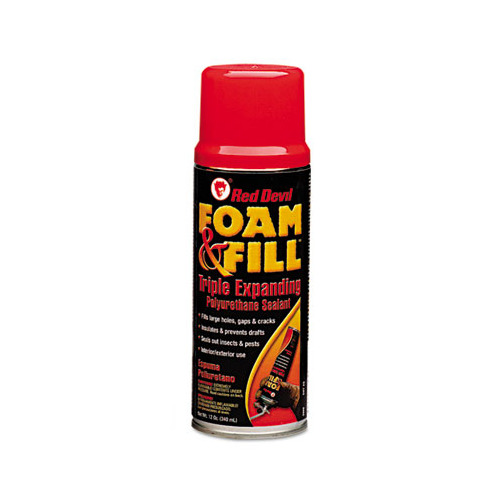 Red Devil Foam Fill Expanding Polyurethane Sealant 12oz Champagne RDL909