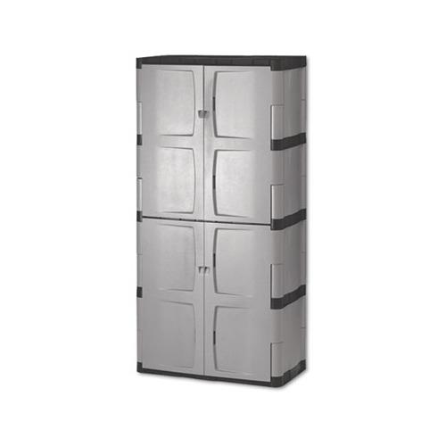 Double Door Cabinet Storage: Rubbermaid Double-Door Storage Cabinet