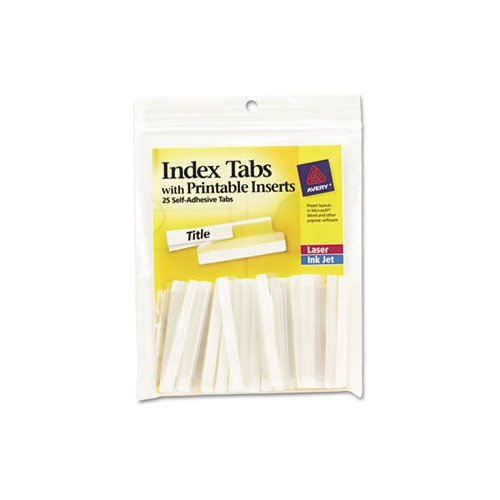 avery insertable index tabs with printable inserts