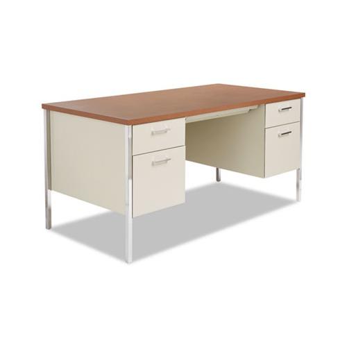 Alera Double Pedestal Steel Desk Alesd6030pc Shoplet Com