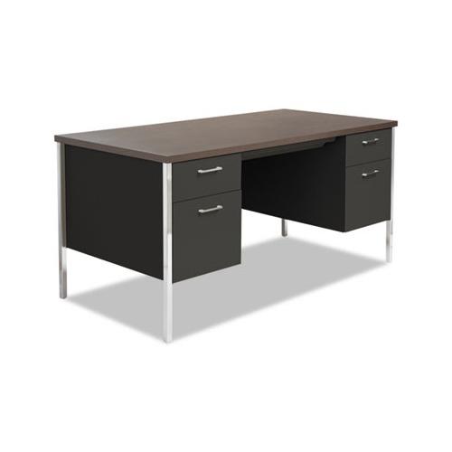 Alera Double Pedestal Steel Desk Alesd6030bw Shoplet Com