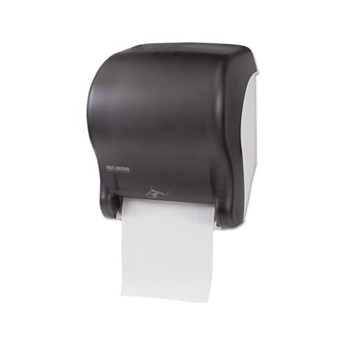 san jamar smart essence electronic roll towel dispenser black plastic. Black Bedroom Furniture Sets. Home Design Ideas