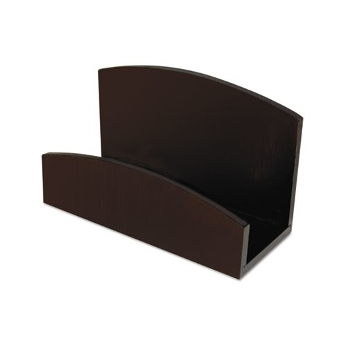 Artistic eco friendly bamboo curves business card holder for Bamboo business card holder
