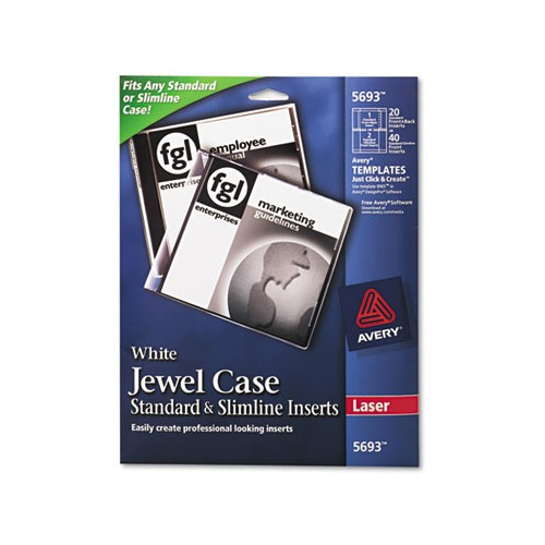 Avery laser cd dvd jewel case inserts ave5693 for Jewel case inserts template