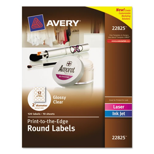 Custom Card Template print avery labels : Avery Round Print-to-the-Edge Labels - AVE22825