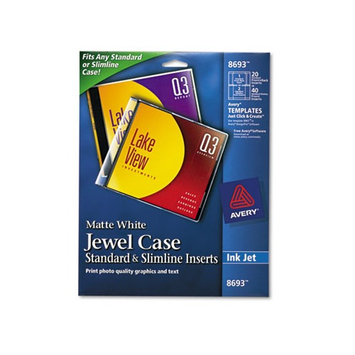 Avery inkjet cd dvd jewel case inserts ave8693 for Avery dvd case template