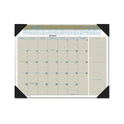 Weekly Calendar Desk Pad : At a glance executive monthly desk pad calendar