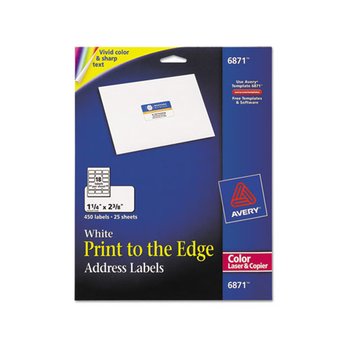 Avery vibrant color printing address labels ave6871 for Colored mailing labels