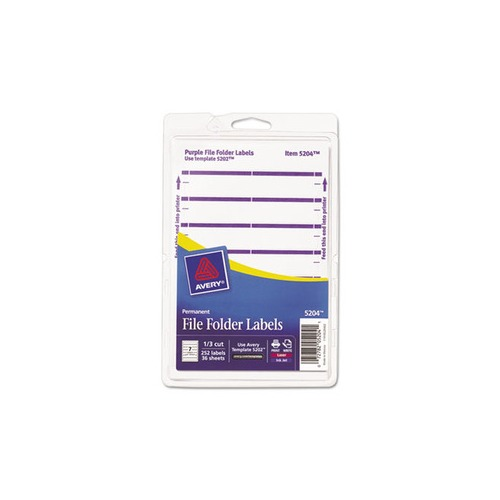 Custom Card Template print avery labels : Avery Print or Write File Folder Labels - AVE05204 ...