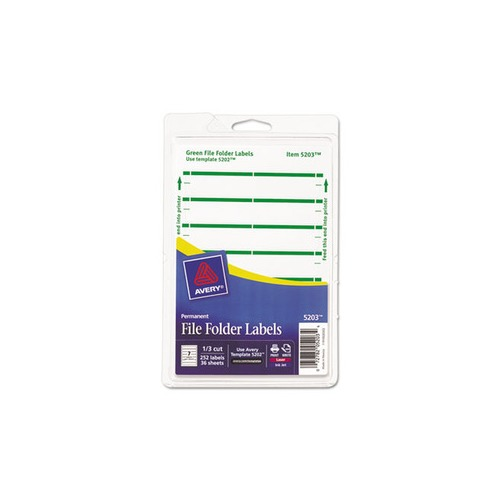 Avery print or write file folder labels ave05203 for Universal laser printer labels template
