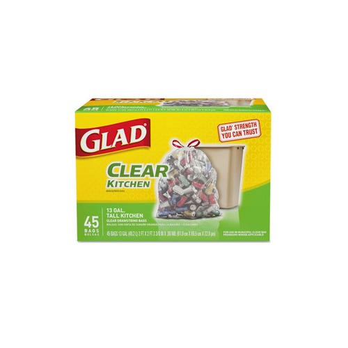 glad recycling tall kitchen trash bags clo78543