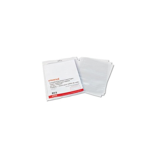Universal Business Card Binder Pages UNV Shoplet