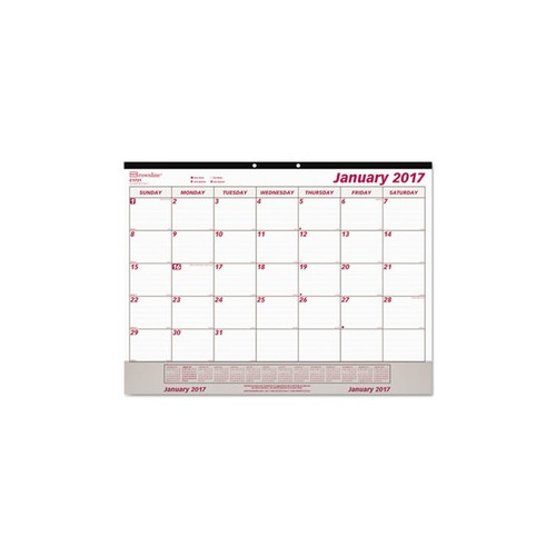 Weekly Calendar Desk Pad : Brownline monthly desk pad calendar redc v shoplet