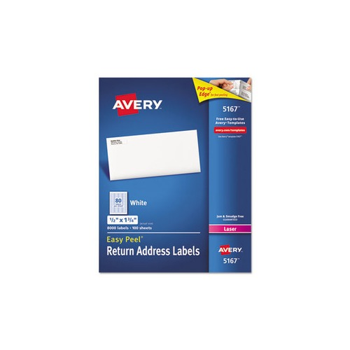 Avery Easy Peel Return Address Labels  Ave5167 Shopletcom
