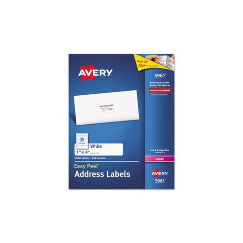 universal laser printer labels template - avery easy peel mailing address labels ave5161