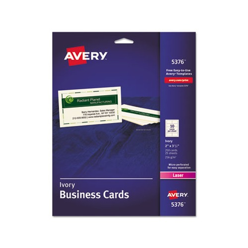 Avery printable microperf business cards ave5376 for Avery online business cards