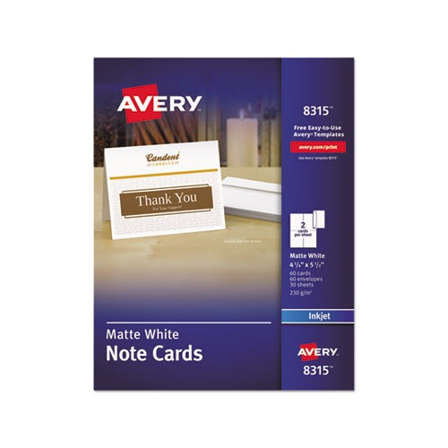 Avery note cards for inkjet printers ave8315 shopletcom for Avery note cards