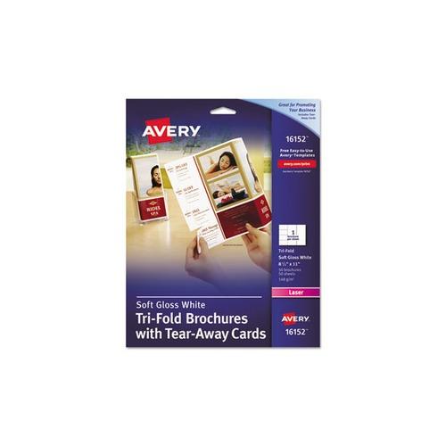 avery tri-fold brochure w  tear-away cards