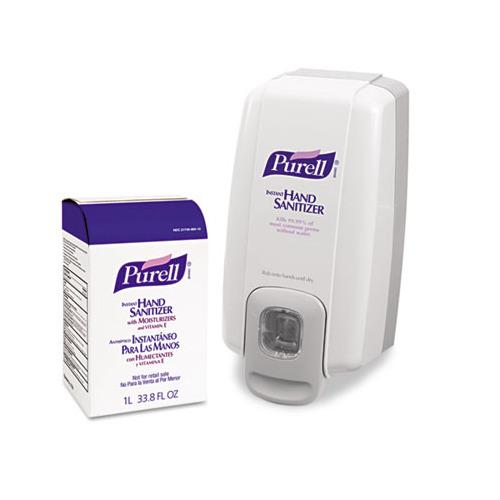 how to change purell hand sanitizer dispenser