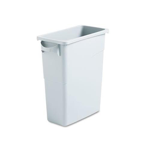 Container Volume Control : Rubbermaid slim jim waste container w handles