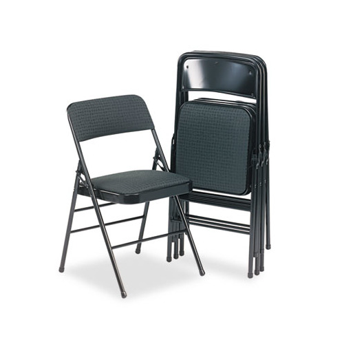 cosco deluxe fabric padded seat back folding chairs