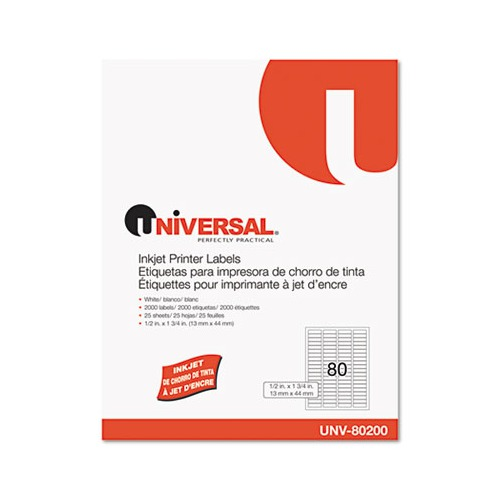 universal laser printer labels template - universal inkjet printer labels unv80200